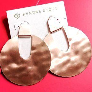 Kendra Scott Diane Statement Earrings In Rose Gold